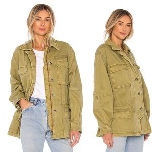 Free People Seize The Day Jacket Army XSmall New